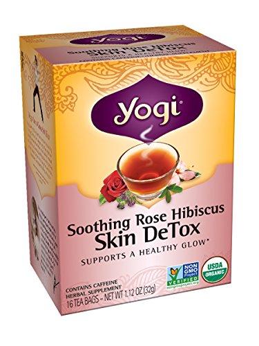 yogi skin detox tea soothing rose hibiscus 16 tea bags pack of 6. Black Bedroom Furniture Sets. Home Design Ideas