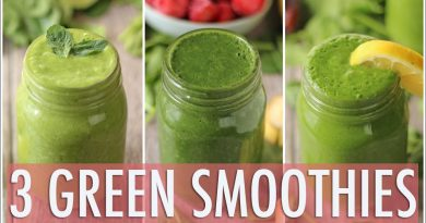 3 Healthy Green Smoothies | Healthy Breakfast Ideas