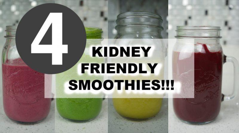 4 FAVORITE KIDNEY FRIENDLY JUICE SMOOTHIES! EASY HEALTHY SMOOTHIE!