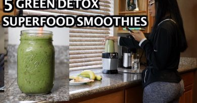 5 MUST TRY GREEN DETOX SUPERFOOD SMOOTHIES
