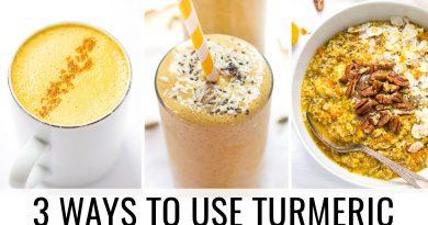 HOW TO USE TURMERIC | 3 easy recipes