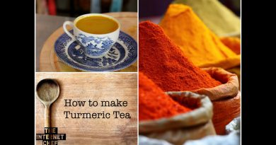 Health benefits of Turmeric Tea and How to make it. by World Cookbook Award winner Bridget Davis ⭐⭐⭐