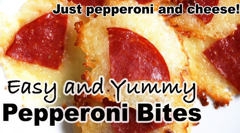 Easy Yummy Pepperoni Cheese Bites - Carnivore/Zero Carb