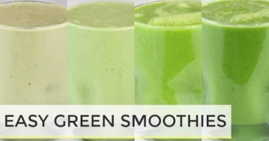GREEN SMOOTHIES 4 WAYS| easy healthy breakfast ideas