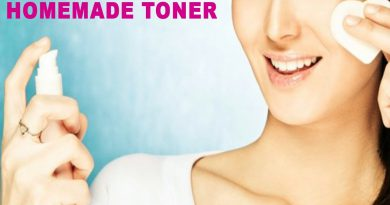 Natural Homemade Toner To Remove Wrinkles And Skin Blemishes