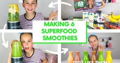 6 HEALTHY BREAKFAST SMOOTHIES FOR KIDS *superfoods Kale Spinach*