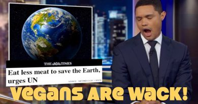 Daily Show Rips Vegans As Smug Hippies! WTF?! Mocks UN Climate Report