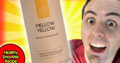 Healthy Smoothie Recipe with Your Super Mellow Yellow Superfood Powder Taste Test & Review