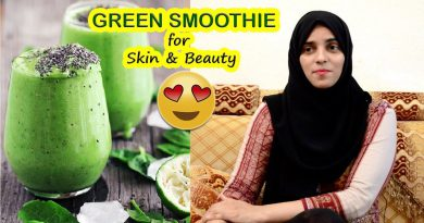 Make Green Smoothie for Fair, glowing & Acne Free Skin