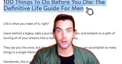 "Mens Lifestyle YouTuber REACTS: ""100 Things to Do Before You Die: The Definitive Life Guide For Men"""