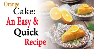 Orange cake an easy and quick recipe | Natural Health