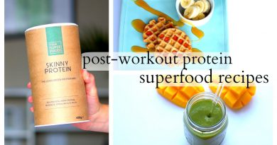 Post-Workout Superfood Recipes {Protein Waffles//Tropical Green Smoothie}