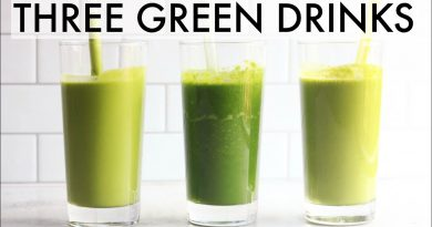 THREE GREEN SMOOTHIES || dairy free + sugar free