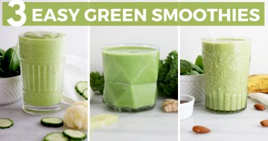 3 Easy & Healthy Green Smoothie Recipes! Dairy-Free Breakfast Ideas   Healthy Grocery Girl