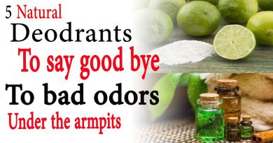 5 natural deodorants to say goodbye to bad odors under the armpits | Natural Health