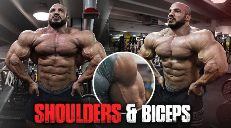 BIG RAMY 2019 FULL INSANE WORKOUT - SHOULDERS & BICEPS