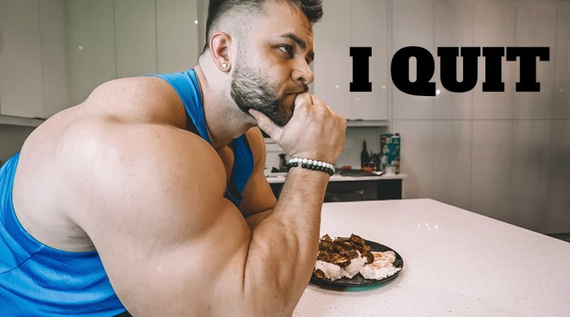 I QUIT! BODYBUILDING DAY IN THE LIFE