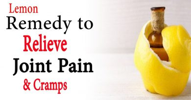 Lemon remedy to relieve joint pain and cramps | Natural Health