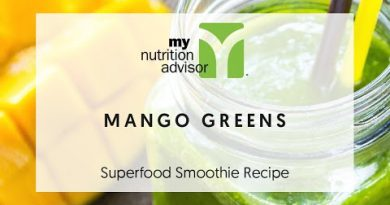 Mango Greens Superfood Smoothie Recipe - How to Make a Mixed Fruit Smoothie