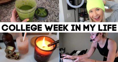 college week in my life: syllabus week, green smoothie recipe, spin instructing