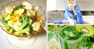 Afghani Girl , What I Eat in a day//GREEN SMOOTHIE+MIX VEGGIES Recipe.