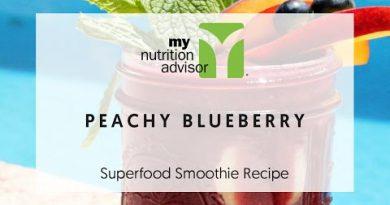 Blueberry smoothie   Blueberry Superfood Smoothie Recipe Peaches