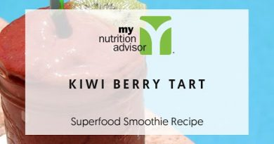 Fruit Tart Smoothie Recipe (Kiwi Berry Tart) | Superfood Smoothie Recipe My Nutrition Advisor