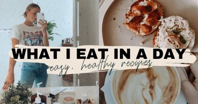 HEALTHY & BALANCED FULL DAY OF EATING // easy meal ideas! superfood smoothie + at home latte
