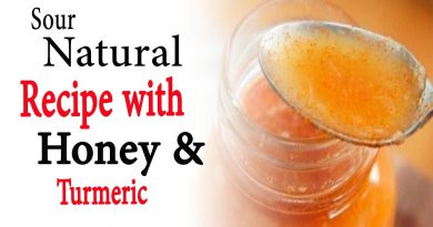 Sour natural recipe with honey and turmeric | Natural Health