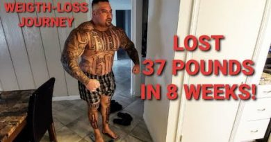 WEIGHT-LOSS JOURNEY   LOST 37 POUNDS IN 8 WEEKS - WEIGH IN AND BLASTING SHOULDERS