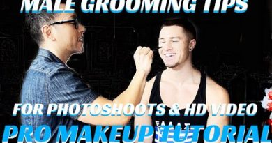 How to apply makeup on MEN Male Grooming for Photoshoots and tv - mathias4makeup