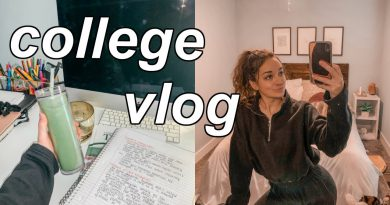 college day in my life: lululemon haul, green smoothie recipe, productive day