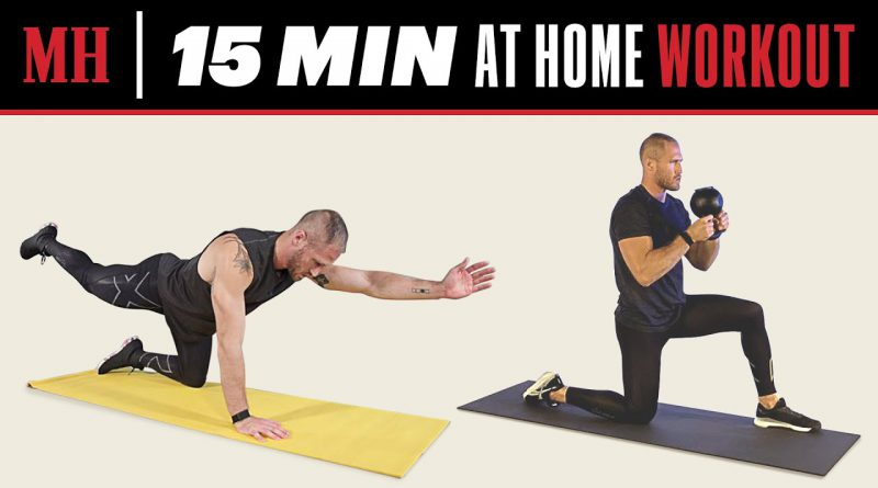 15 Min Full-Body Workout You Can Do From Home | Men's Health