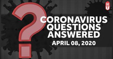 Coronavirus Q&A: April 8, 2020