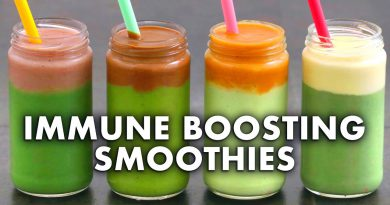 IMMUNE BOOSTING SMOOTHIES | 4 Green Smoothie Recipes