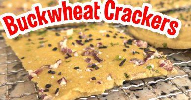 Raw No Bake Gluten Free Buckwheat Crackers Recipe