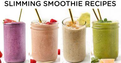 SLIMMING SMOOTHIE RECIPES ‣‣ 4 easy smoothie recipes