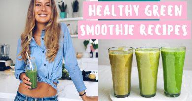 3 HEALTHY GREEN SMOOTHIE RECIPES // STOP CRAVINGS & REDUCE BLOATING // (NO BANANAS)