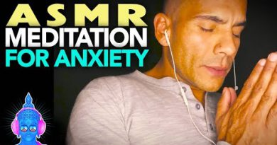 ASMR Whispered Male Voice MEDITATION & HAND SOUNDS for Anxiety & Stress