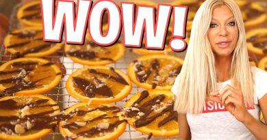 Chocolate Dehydrated Orange Slices YUM!