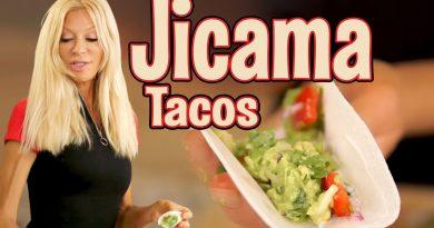 Jicama Taco with Guacamole- EASY and FAST raw vegan snack