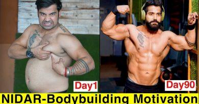NIDAR- Ft. Dino James|| Bodybuilding Motivation|| 90 Days Transformation