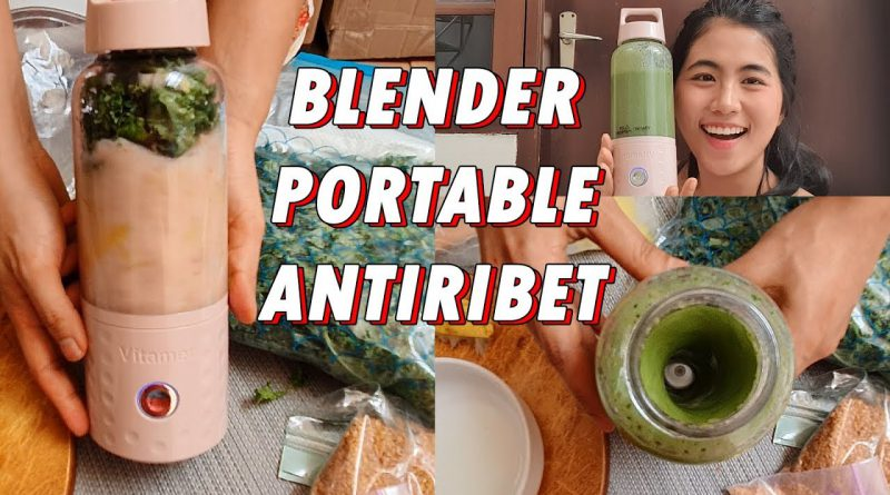 BLENDER PORTABLE WAJIB PUNYA!! RESEP GREEN SMOOTHIE FOR GLOWING SKIN
