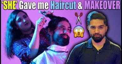 Female Barber Gives A Haircut | Haircut At Home | Long Hair Trimming | DIY Face Mask