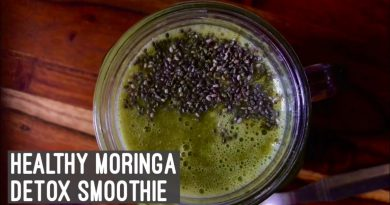 Moringa Detox Smoothie | Healthy Quick & Easy Breakfast Recipe| Super Green Drink | Weight Loss