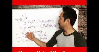 Take the Dr. V Green Smoothie Challenge