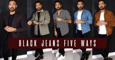5 Simple Ways to Wear Black Jeans   Men's Style & Fashion Lookbook