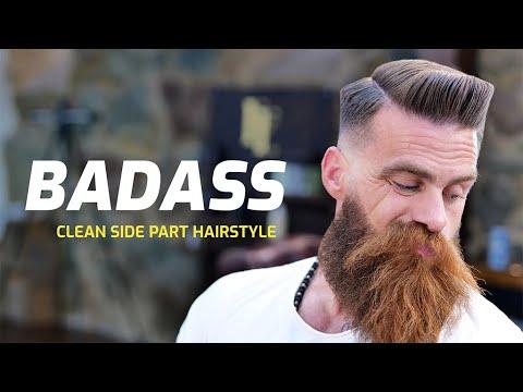 BADASS hairstyle - Clean side part. Men´s grooming