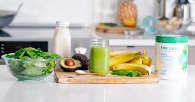 Healthy Green Smoothie with Organika Enhanced Collagen