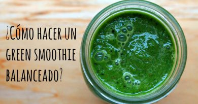 ¿Cómo hacer un GREEN SMOOTHIE saludable?